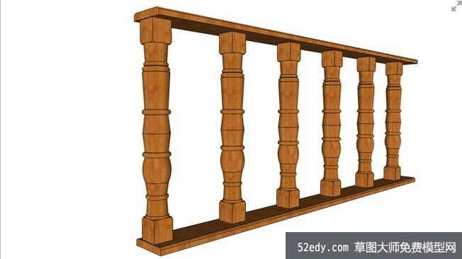 柱子护栏的su模型