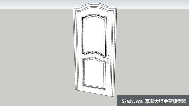 欧式室内房门su模型_su模型下载
